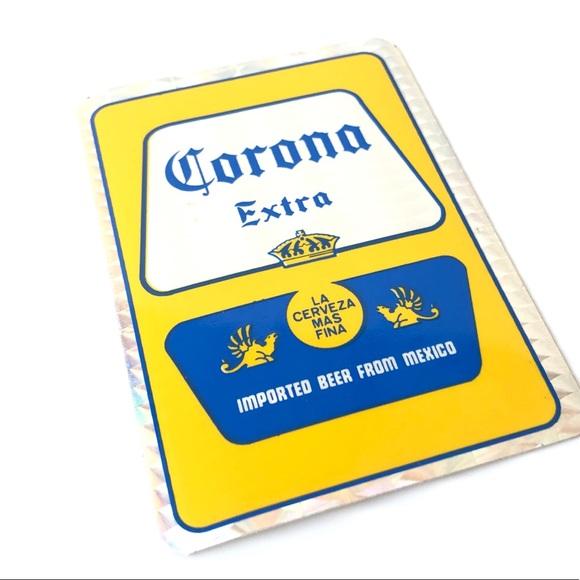 🌸Corona Vintage Foil Beer Sticker Craft Supply